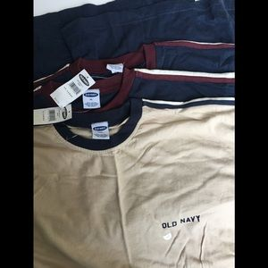 NWT Pack of 3 Old Navy Heavy Duty Cotton Tee
